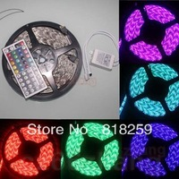 5M 5050 SMD RGB Non Waterproof Flexible 300LED Strips 44Key IR Remote 60LED M