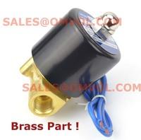 "BRASS PART Copper Wire Electric Solenoid Valve Water Air N/C 1/4"" DC12V/24V AC110V 220V,Quality upgrade !"