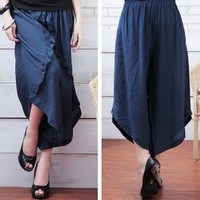 2013 summer 6070 plus size ankle length trousers skirt loose plus size plus size plus size clothing
