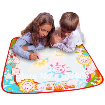 Free Shipping Top Quality 2PCS/Lot 70x70cm Child Aquadoodle Magic Mat, Doodle Mat,Water Drawing Mat