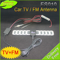 FREE SHIPPING In Car 2 In 1 Analog Antenna ES010 TV &Radio with Amplifier situable for all CAR DVD(High power,Quality guarantee)(China (Mainland))