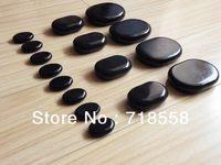Free shipping hot sale stone 16 pcs mini massage stone set skin relief massager spa hot rock stone