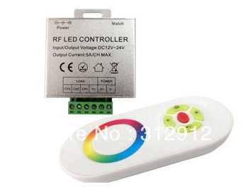 promotion!!! LED RGB touch controller,DC12-24V input,max 5A*3 channel output