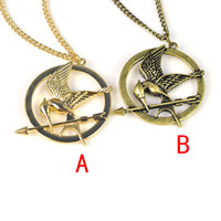 $5.26 the hunger game's bird charm necklace,fashion necklaces,free shipping up $15