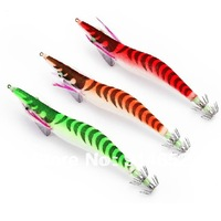 Super cheap No. 2.5 luminous wood shrimp lure squid hook neon shrimp fishing 100pcs free shipping in the world.