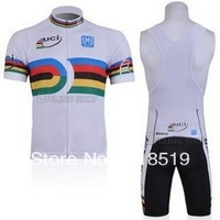 High Quality !Classic UCI team Short Sleeve Cycling Jersey /cycling clothing+ Bib Shorts .