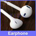 1 PC Good Quality Stereo Earphone Headphone with Mic Volume Control for Apple iPad iPhone 5 4S iPod EarPods, Free Shipping