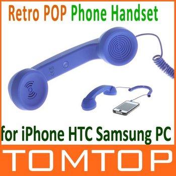 2012 New Creative  Retro POP Phone Handset for Blue Color bb