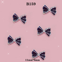 Black Nail Art 3d  20 Pieces / lot   Mix Bow / Rhinestone for Nails in beauty   # B159
