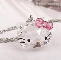 Beautiful Crystal Hello Kitty Necklace Hello Kitty Pendant