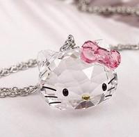 Beautiful Crystal Hello Kitty Necklace Hello Kitty Pendant