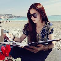 2013 fashion star vintage polarized sunglasses female fashion big box large sunglasses