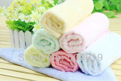 Free Shipping 10pcs/lot 100% Bamboo Fiber Material 28*50cm Washcloth Face Towel,Children Wash Towel(China (Mainland))