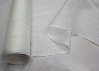 free shiping 100% mulberry silk chiffon fabric 6m/m 25gsm solid color wholesale promotion white