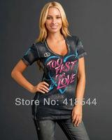 Free Shipping SF Women's T shirts ,wholesale casual short sleeve summer new fashion printed t-shirt top women clothing BLWHSA