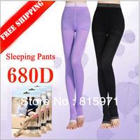 Free shipping women 680D Varicose Veins Super Tights Leggings Sleeping Slimming Socks lady's Beauty Leg Slim Pants 2 colors 452
