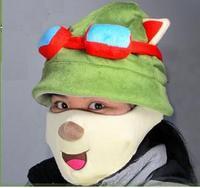 LOL Teemo Cosplay Cute Hat + Mask, Teemo Hat Teemo Mask