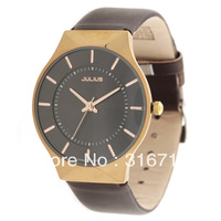 Drop Ship! Free Shipping Korea Band Julius Men Watches Commercial Fashion Luxury Quartz Leather Watch Wrist  JA-577L