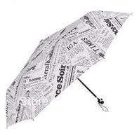 2013 Newspaper umbrella folding british style personality lovers windproof sun protection and rain umbrella free shipping