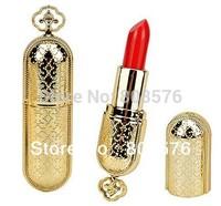 free shipping  cosmetic professional elegant tube lip stick cheap makeup red waterproof lipstick lip care moisture