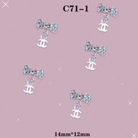 3D Alloy C Chain With Diamond DIY Nail Art Glitter Decorations #C71-1