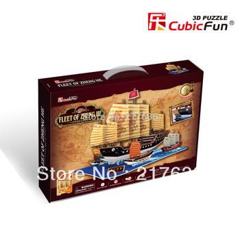 Free shipping , 3D Puzzle , FLEET OF ZHENG HE , DIY toy. gift