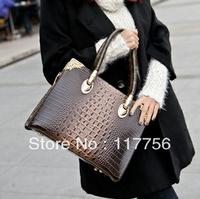 New  fashion Crocodile grain Portable recreation girl's fashion bag restoring ancient ways