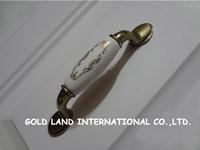 96mm Free shipping zinc alloy+ceramic furniture drawer handle