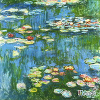 Canvas Prints- Impressionism oil painting claude monet waterlilies 10-gw-1 (17)