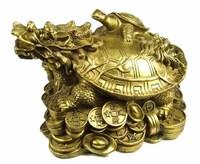 Copper feng shui decoration dragon turtle 17cm