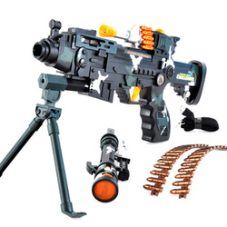 Developed electric toy gun sniper rifle acoustooptical pistol submachinegun boy toy new year gift(China (Mainland))