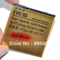 Free shipping by POST 2pcs/lot wholesale 2450mAh EVO 3D recharge battery for HTC EVO 3D G17 X515M X515D BG86100 battery