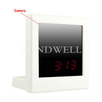 HOT! Digital Mirror Clock DVR Hidden Camera Motion Detection Mini DVR Free Shipping