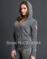 Free Shipping SF Women's sport suit ,wholesale cotton autumn hoodies sports set handsome sweatshirts suits for women BLWHSA