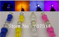 Free shipping 4pcs/lot High bright led auto bulb clearance lights width lamp color light decoration lamp w5