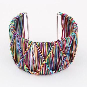 Min.order $10(mix) fashion multi color cuff bracelet jewelry wholesale metal tribal cuff bracelets for women