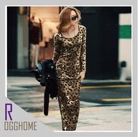 Женское платье 2012 New Long skirt Euramerican style Chiffon+Cotton Plus size 2 color Dress RG1207024