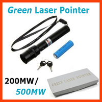 200MW/500MW Green Laser Pointer Adjustable Star Burn Match With Li-ion Battery, Charger and Retail box!!