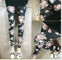 Free shipping retail&wholesale Fashion  Floral leggings for women
