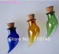 handmade pepper shape necklace hang  mobile phone vial  pendant drift wishing bottle vial pendant/miniature pendant/glass bottle