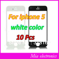 Free shipping 10 Pcs Front Screen Glass Lens Replacement  touch panel for iPhone5 white color with tracking number