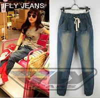 2013 Newest Factory promotion IFLY Fishion Girls womens loose pants Classy Mid Waist drawstring harem Jeans dress for women lady