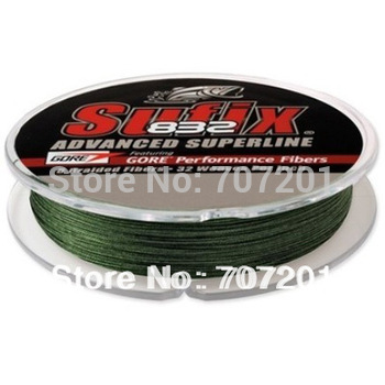 Sufix 832 Advanced Superline Braid Line 150 Yd. Lo-Viz Green