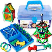 Kids Christmas Gift 168pcs / Set  Magnetic Blocks Educational toys storage box magnetic  JM001