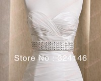 Free shipping new arrival extravagant handmade crystal bridal belt wedding dress accessiroes