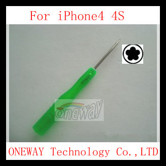1000pcs/lot 5 Point Star Pentalobe Screwdriver 5 Point torx driver for iPhone 4 4G 4S ,DHL Free shipping(China (Mainland))