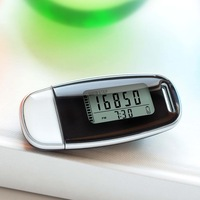 Free shipping USB 3D accelerometer  Rechargeable Multi function pedometer with backlight