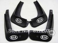 Free shipping 2011-2012 KIA Rio/K2 4dr Soft plastic Mud Flaps Splash Guard