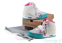 Free shipping 2012 New Style Women Yeezy 2 shoes Women Athletic Shoes (pink,white,gray,green)