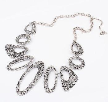 retro Geometric hollow fashion  necklace choker necklace fashion jewelry wholesale 2014